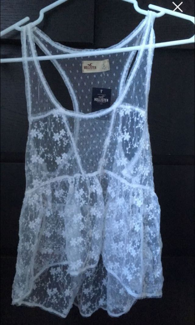Hollister white lace