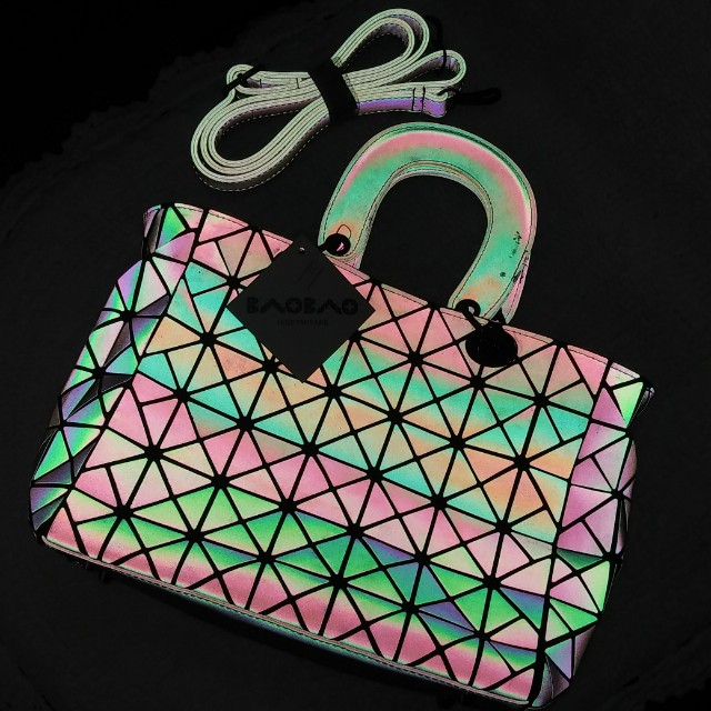 208cef6e2acd Issey Miyake Bao Bao Luminous Geometric Quilted Bag with Sling ...