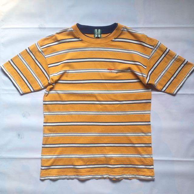 Kaos Stripe Yellow White Blue COS