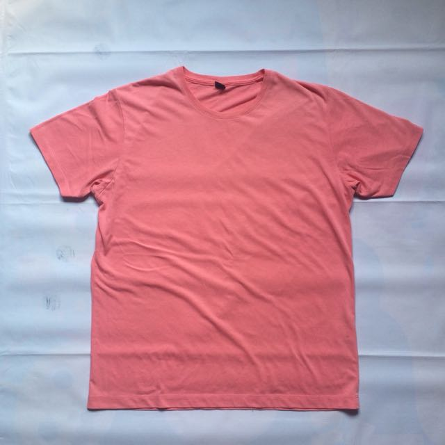Kaos Uniqlo Soft Pink