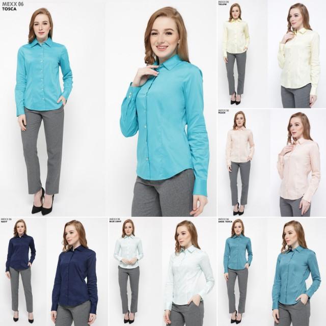 Kemeja wanita baju kerja branded sisa export original
