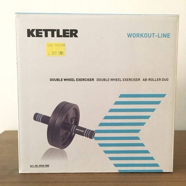 Kettler double wheel exerciser ab roller duo six pack