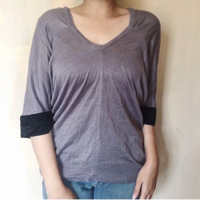 Knit wear shirt