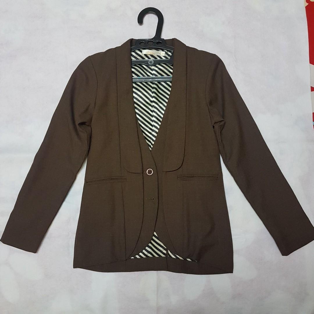 Korean Brand Brown Blazer