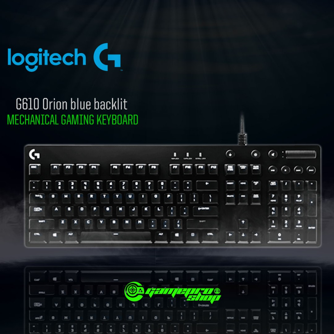 3817b682901 Logitech G610 (920-008005) Orion blue backlit Mechanical Gaming Keyboard,  Electronics, Computer Parts & Accessories on Carousell