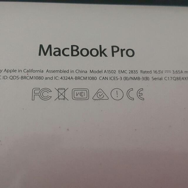 Macbook pro early 2015 minus retak