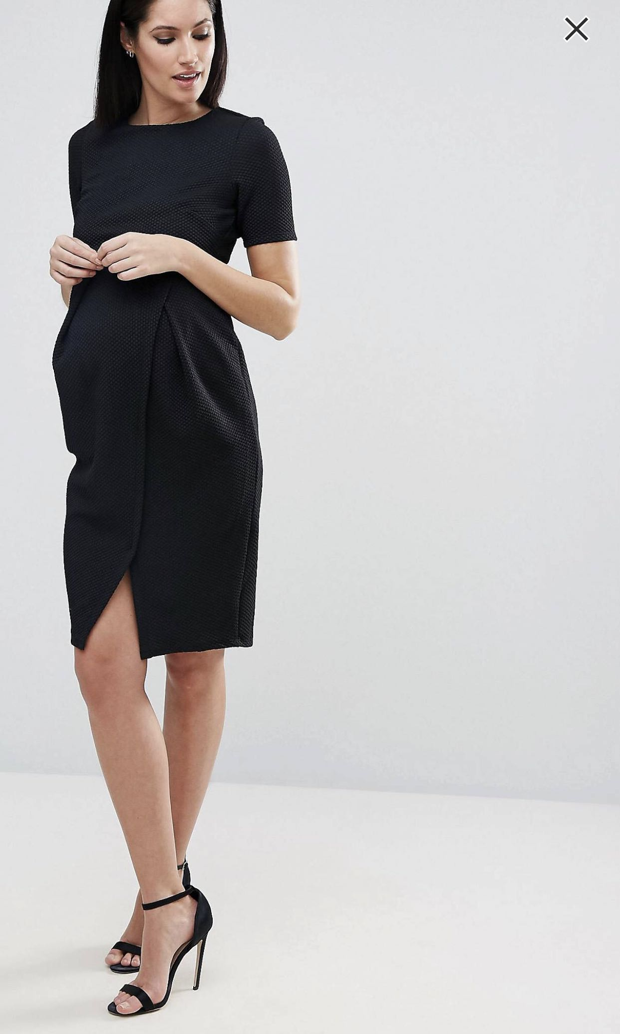 e579422d41e Maternity Double Layer Textured Smart Dress
