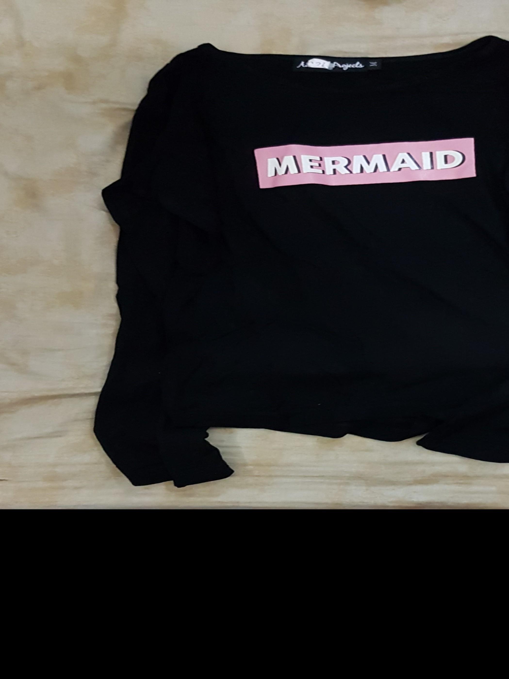 mermaid bell sleeve top