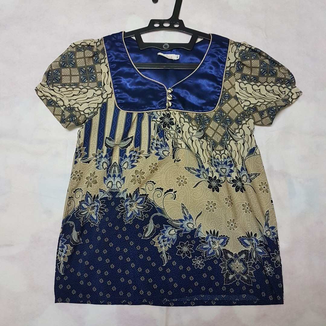 Mine Blue Batik Blouse