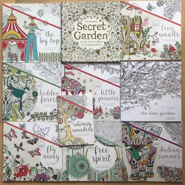 Mix Lot of 10 New colouring books Free shipping