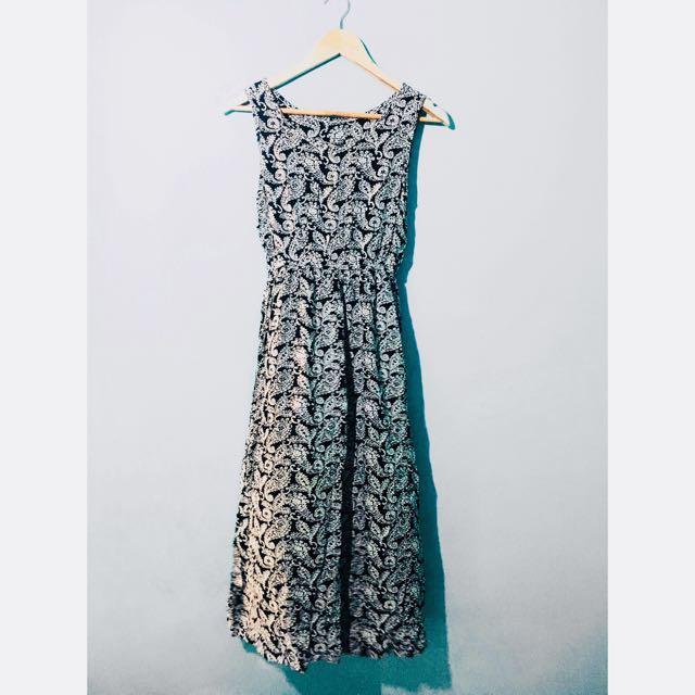 Moroccan Print Maxi Dress