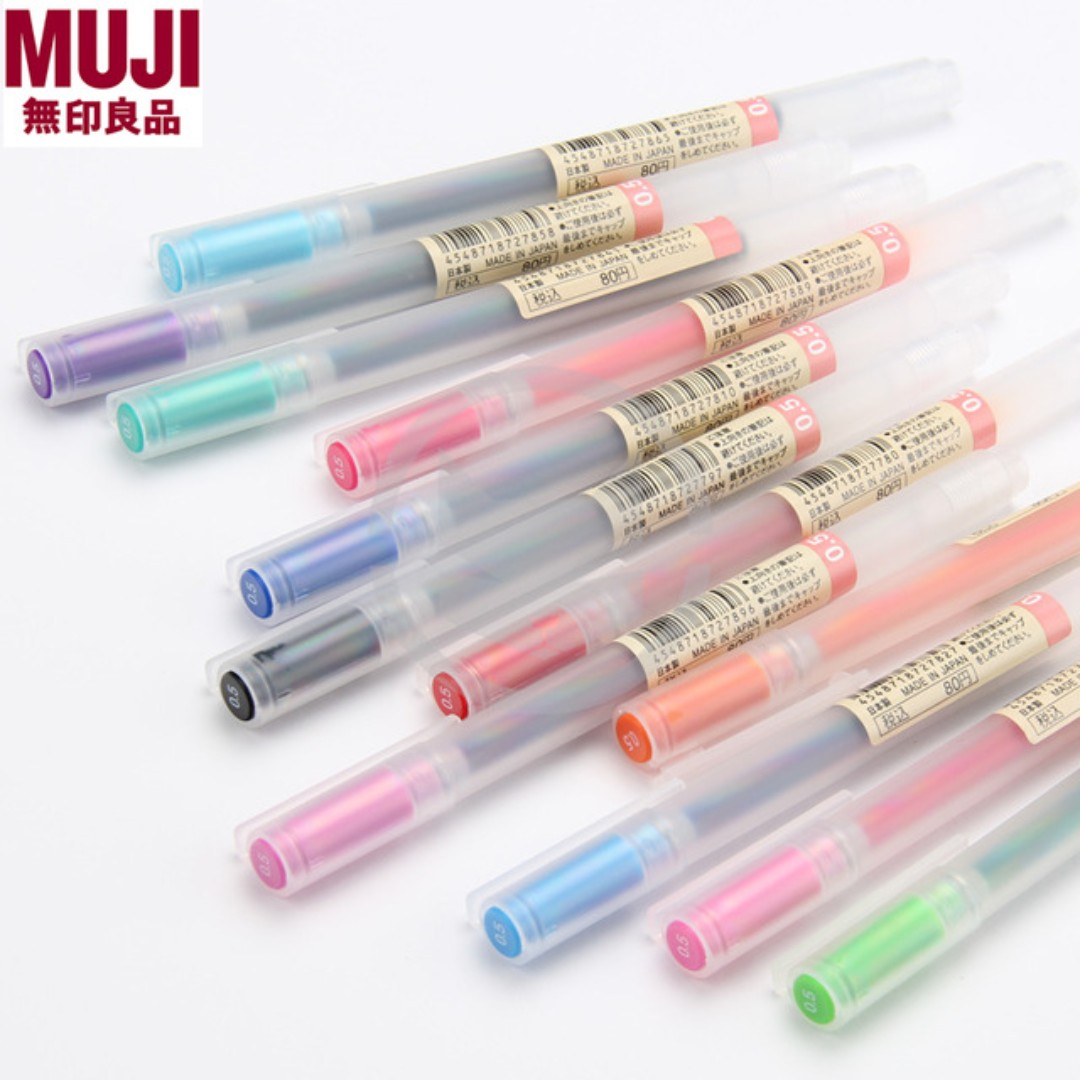 MUJI Gel Ink Pen, Design & Craft, Craft Supplies & Tools on Carousell