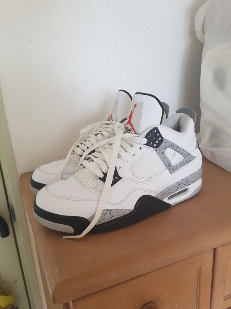 on sale 72f99 fb107 Nike Air Jordan 4 White Cement Retro OG, Men s Fashion, Footwear on ...