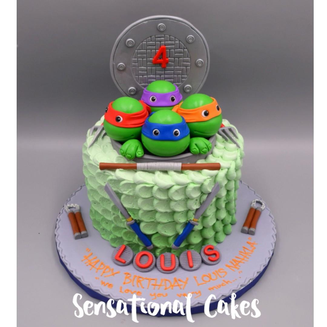 Ninja Turtle Concept Theme 3D Birthday Cake Singapore SingaporeCake