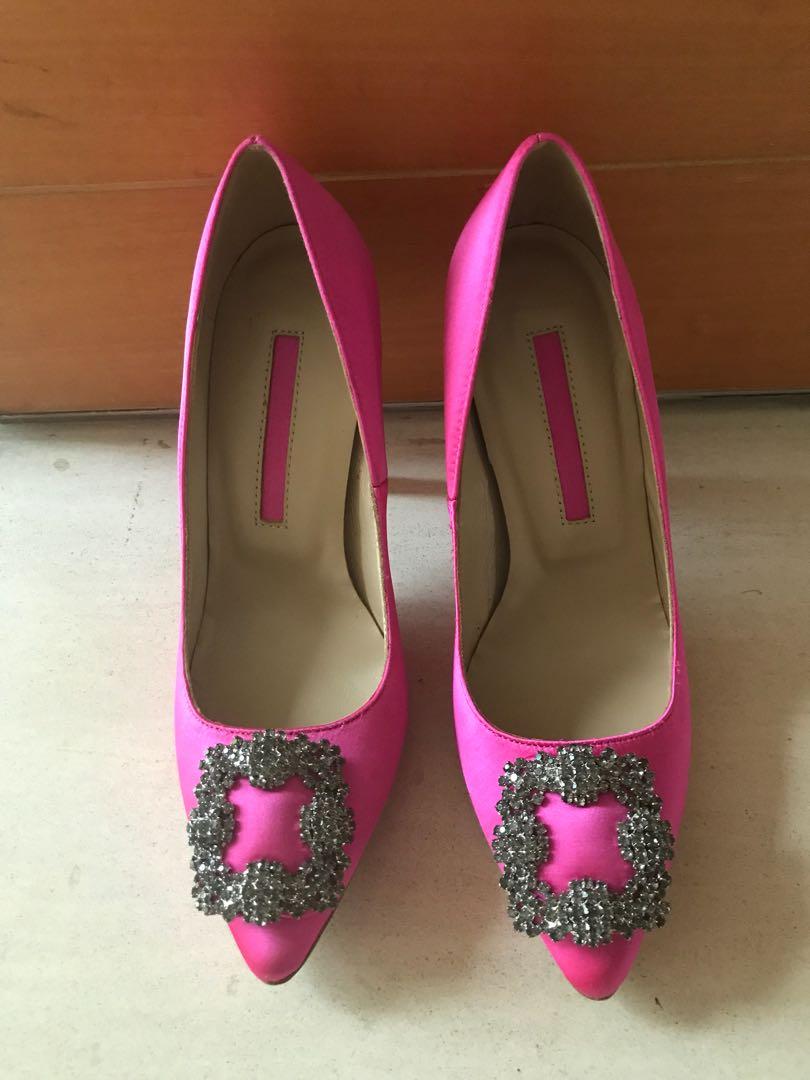 5a4a5ece82d No brand shocking pink hangisi heel