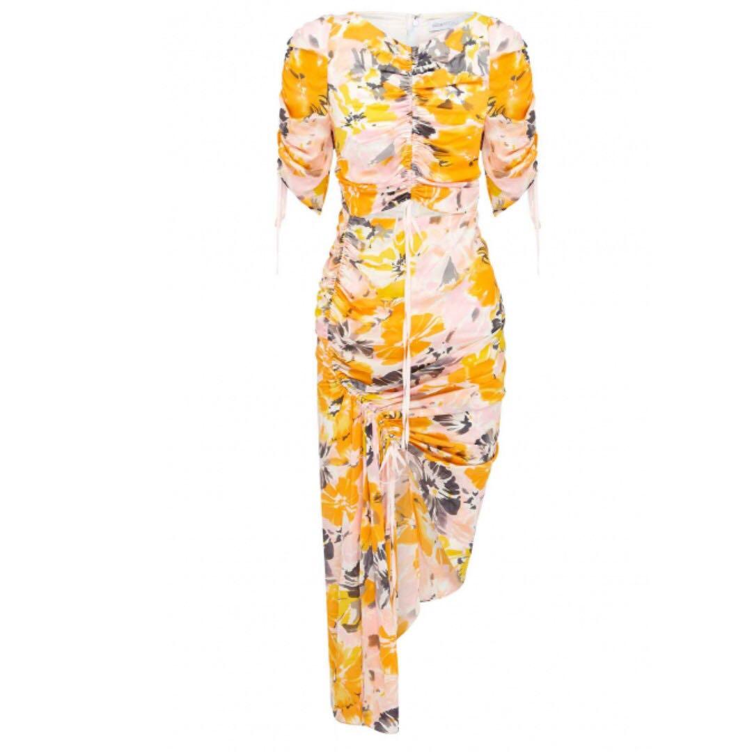 NWT Alice McCall Soiree Dress, Saffron Floral, AU4 fits AU6