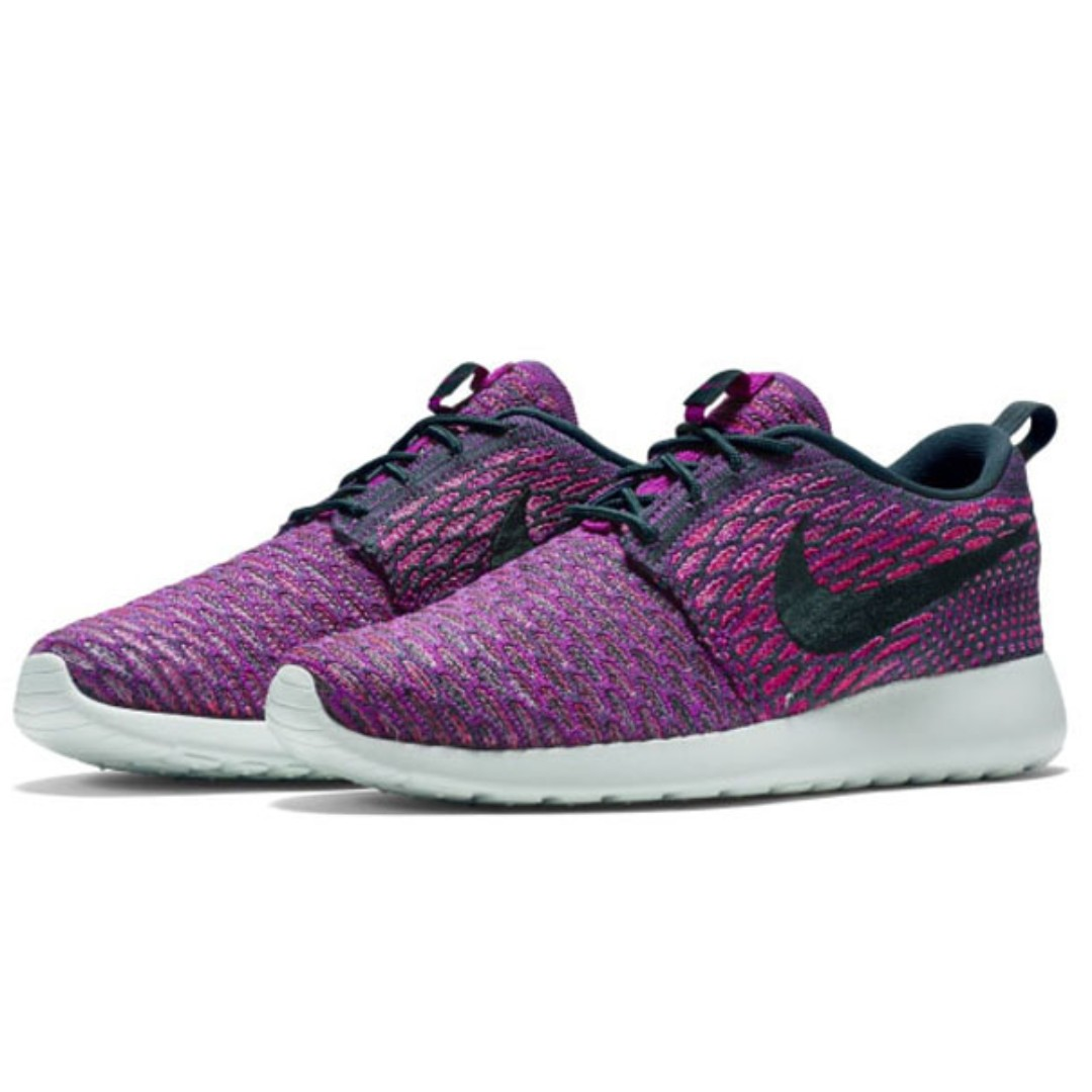 0866b3c7e75c Original Nike Women Roshe One Flyknit Atomic Teal Vivid Purple Size ...