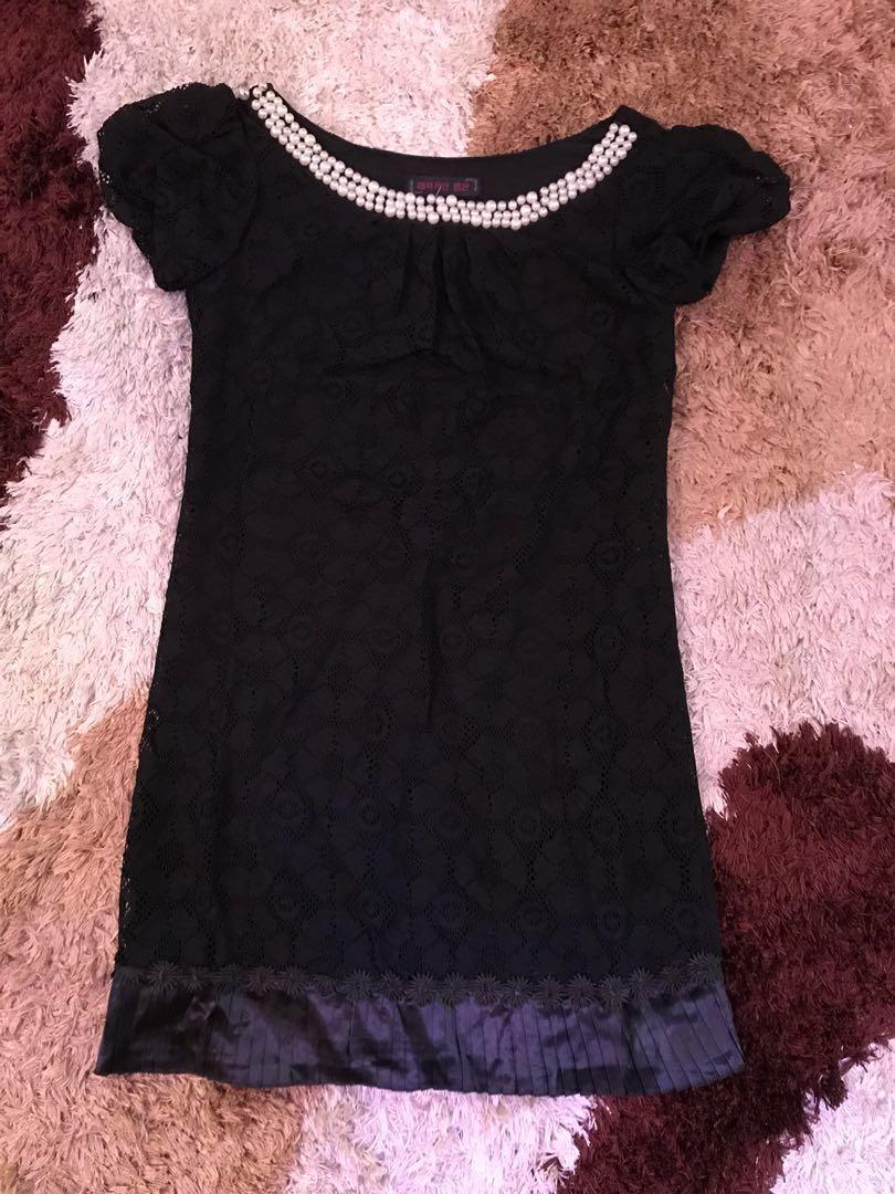Pearl Classic Black Dress/Blouse