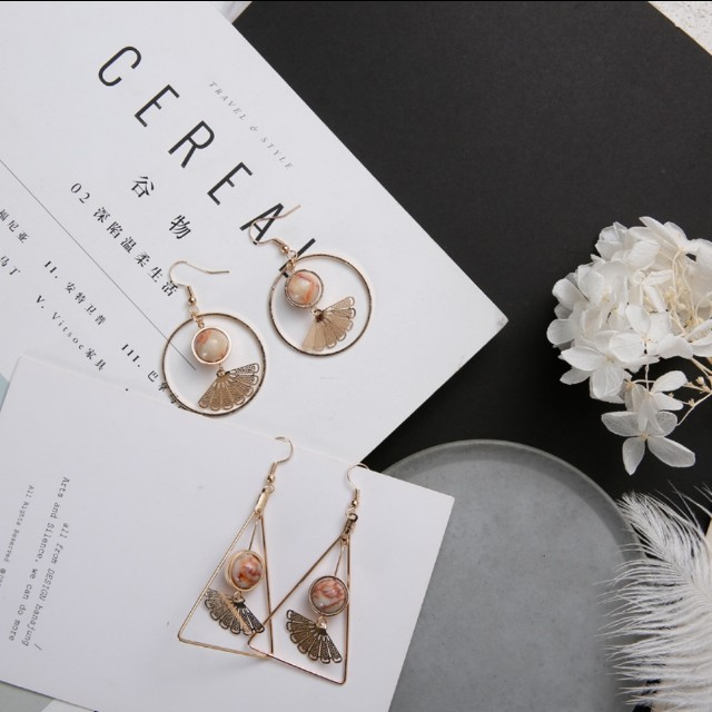 PREORDER Minimalistic Metal Hollow Earrings