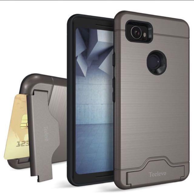 finest selection 24a30 72c5b (Ready) Teelevo card case for Google pixel 2 XL - gunmetal
