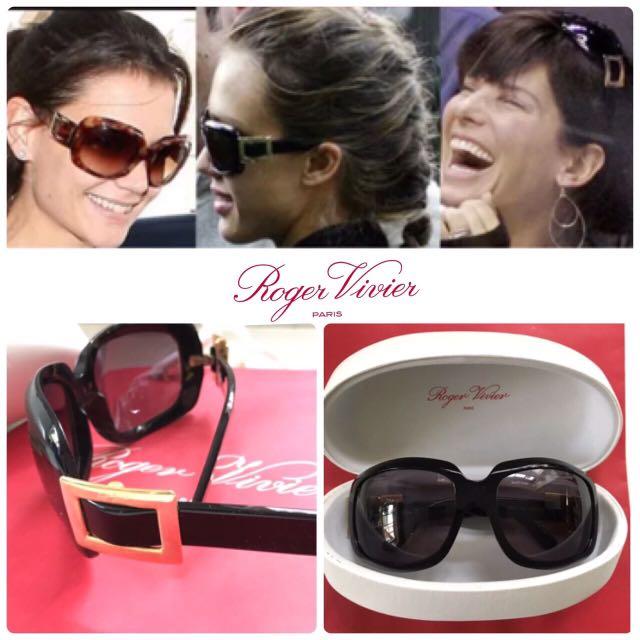 明星名模同款正品Roger Vivier 經典logo 墨鏡 太陽眼鏡