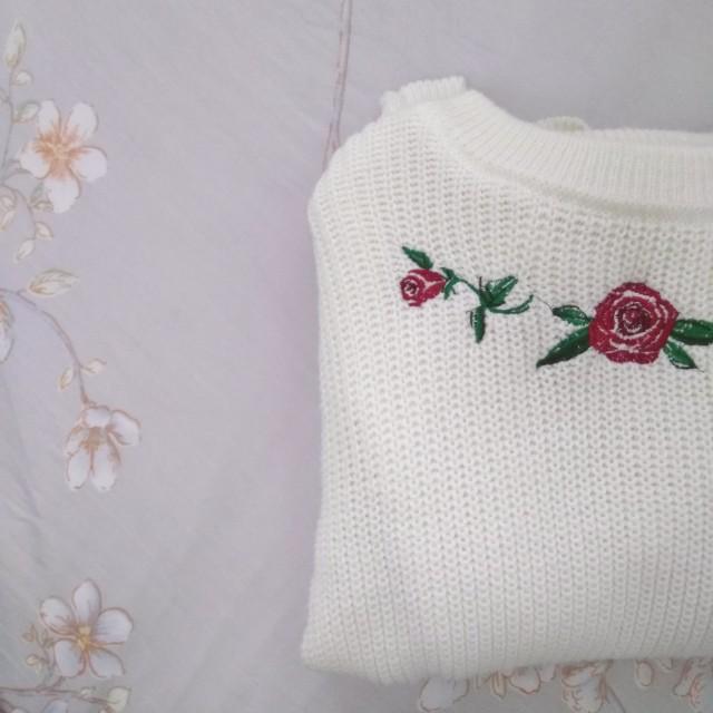 Roses Knitted Top #Fesyen50