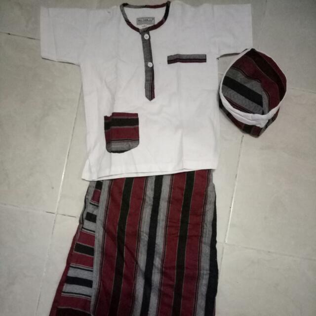 Setelan Muslim Celana Sarung 3in1 Anak Laki Laki Brand Al Hajj