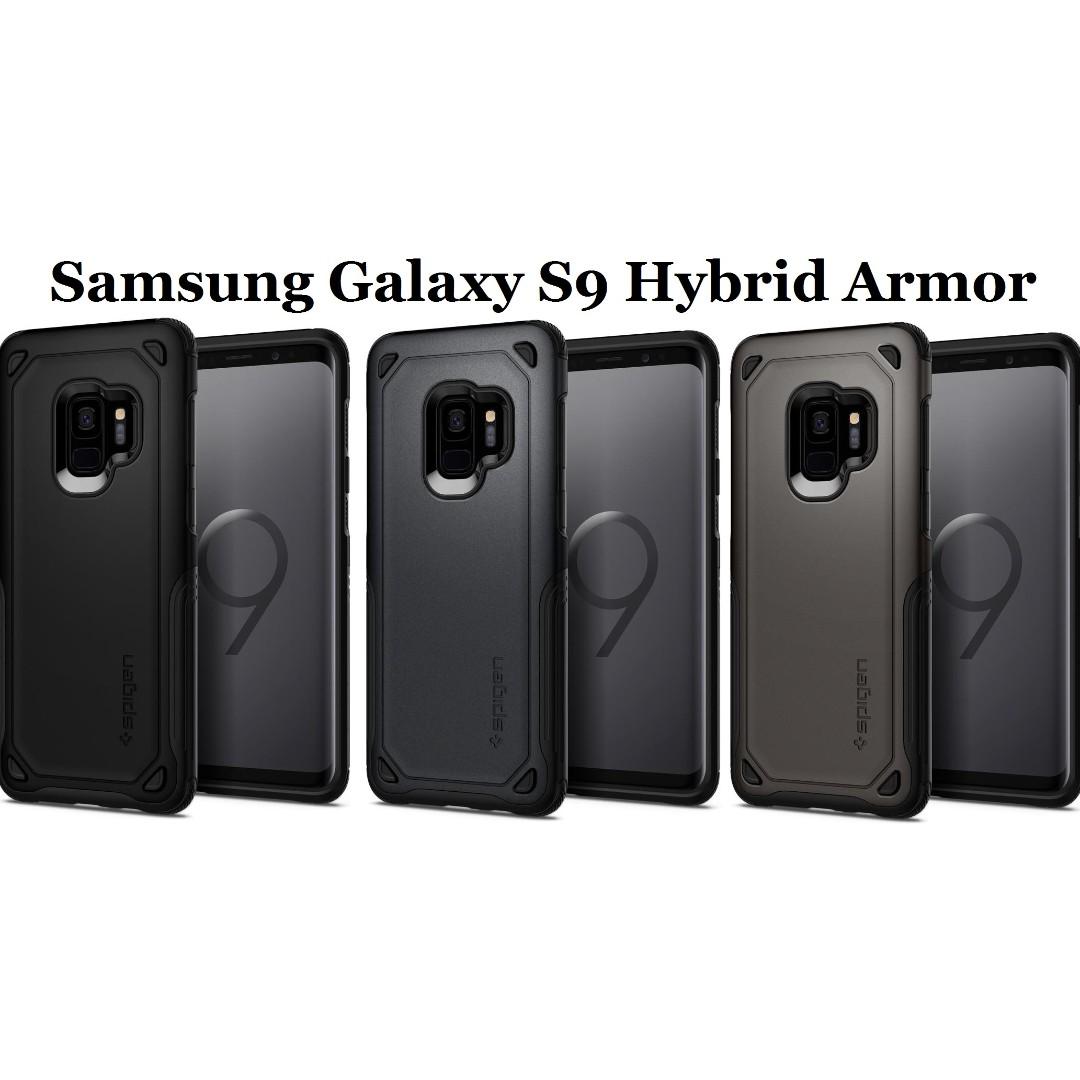 sale retailer d2375 3d096 Spigen Samsung Galaxy S9 Hybrid Armor