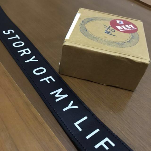 "Strap s.rw black ""story of my life"" jual cepat"
