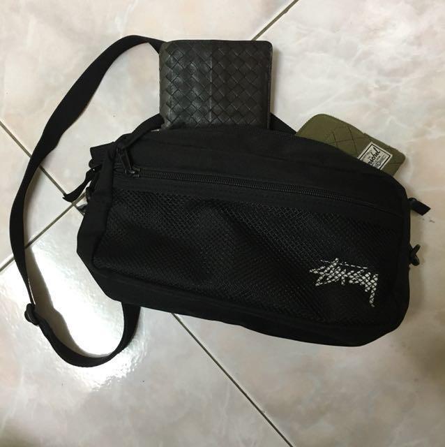 Stussy stock side bag 斜背包 腰包 小包