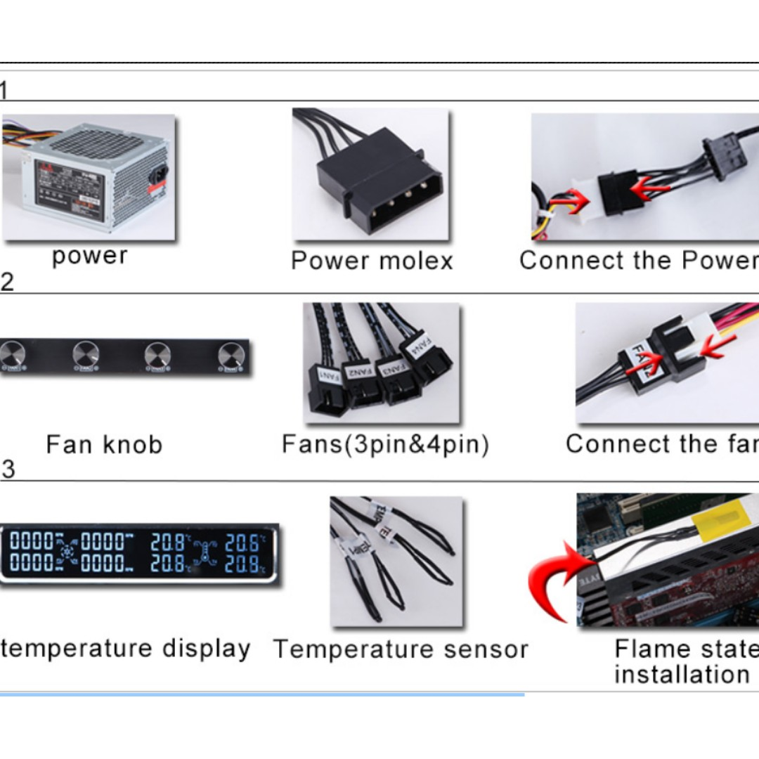 STW-6041 CPU Cooling Fan Speed Temperature Controller for