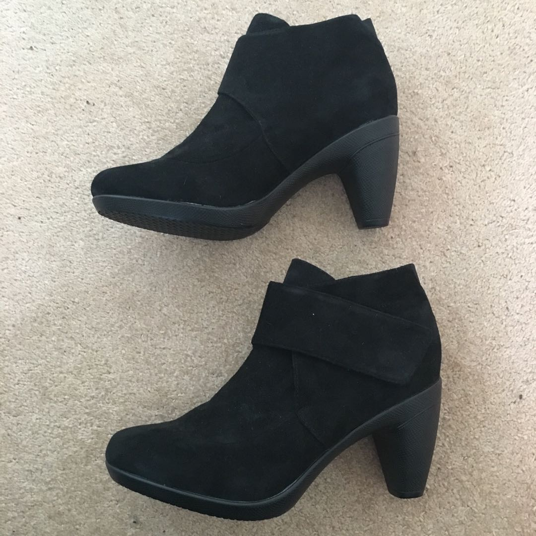 Taking Shape Black Ankle Boots