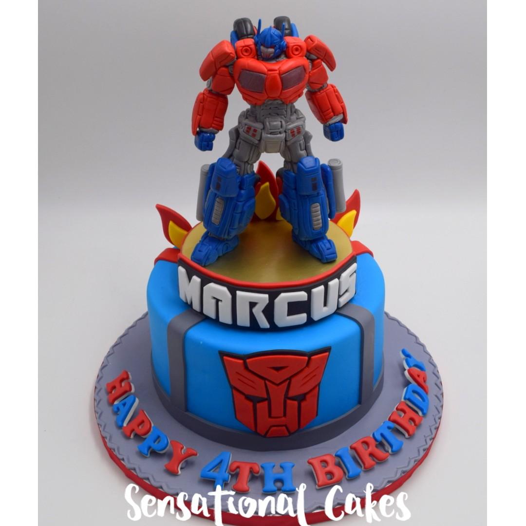 Transformers Concept Birthday Boy Cake 3d Singapore Singaporecake