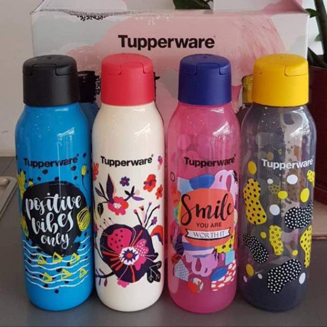 Tupperware limited edition bottle, kitchen & appliances on carousell.