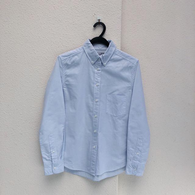 Uniqlo Oxford Shirt in Light Blue