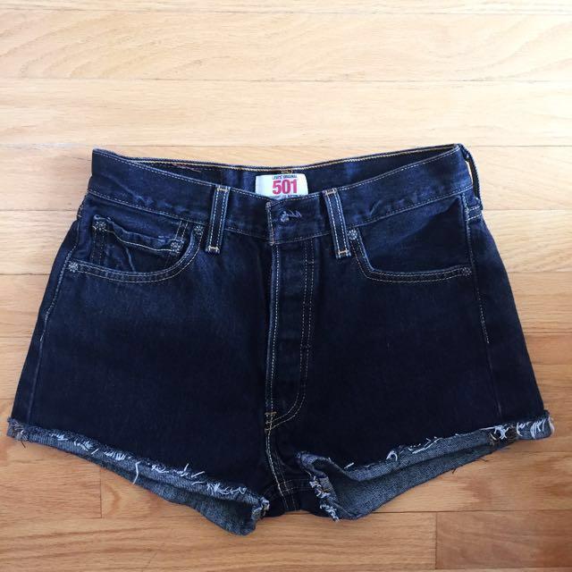 Vintage Levi's Black Shorts (New)