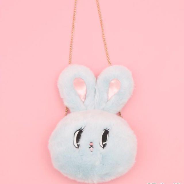 正版正版日本超可愛Wego兔兔帶頭包包