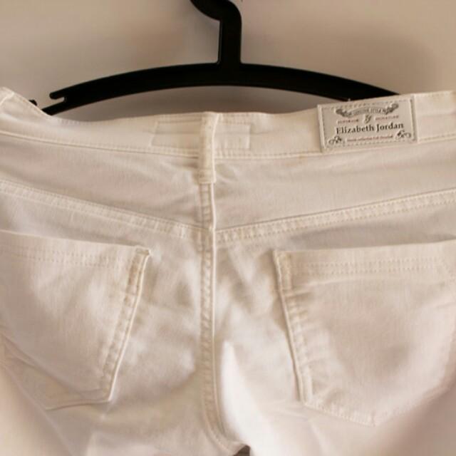 White jeans celana jeans putih 3 4 Preloved Fesyen Wanita Pakaian Wanita .