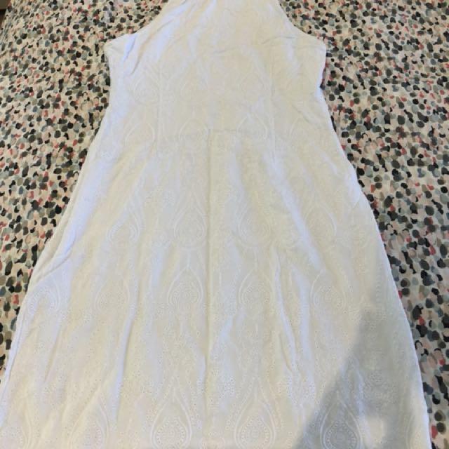 White lace/crochet dress