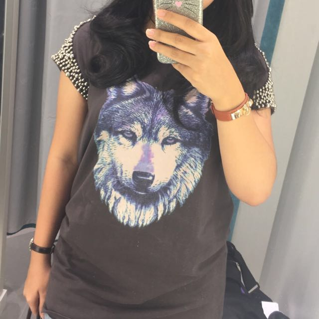 wolf studs top