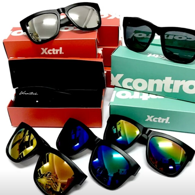 XCTRL草寫LOGO墨鏡-綠膜