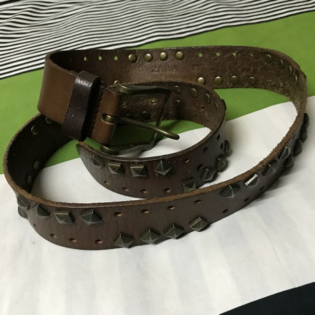 ZARA Men's belt genuine leather