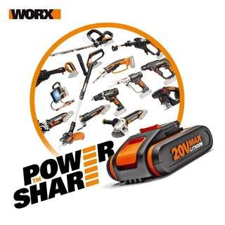 Worx全新20v 2.0ah锂電池