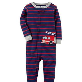 Carter's firetruck Footed Pyjamas