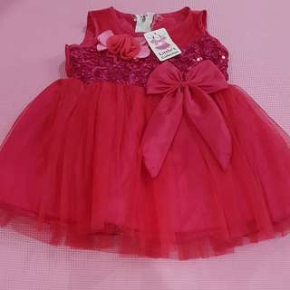 New! Dress pinky baby 1th