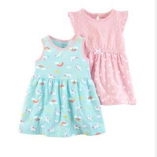 BN Carter's 2-Pack Jersey Dresses