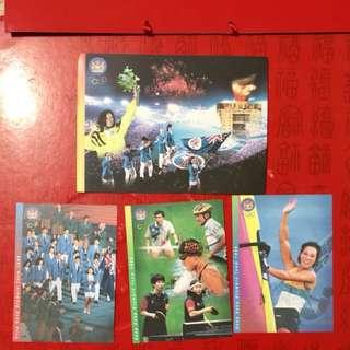 全新-香港奧運明信片4張