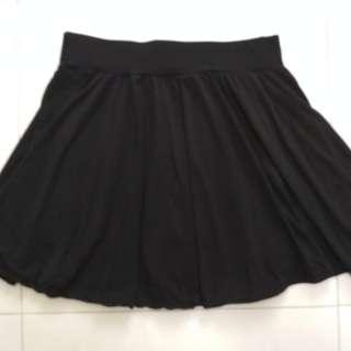 (A3) Black Skorts