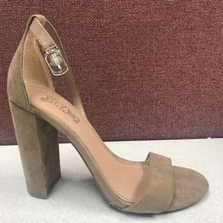 Brand New Trash Suede Ankle Strap Heels