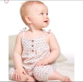 *24M* BN Carter's Crinkle Gauze Jumpsuit For Baby Girl